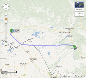 Рейс Омск-Рубцовск. Путь через Камень-На-Оби и Барнаул