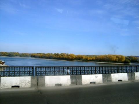 Бийск и река Бия. Мост через реку.