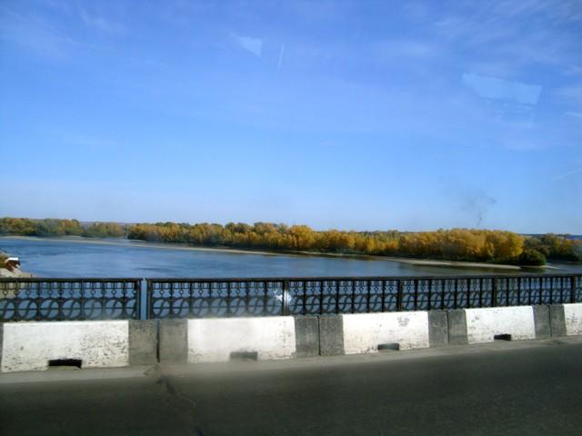 Бийск и мост через реку Бия