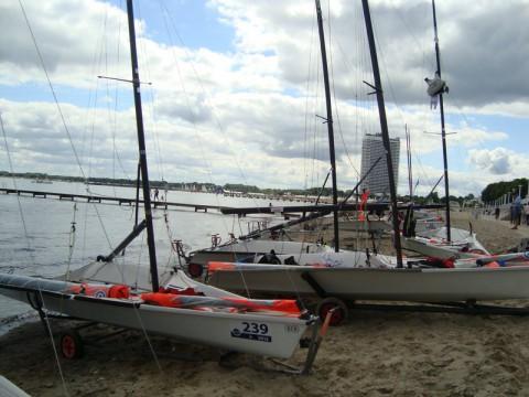 Парусные лодки в Любеке (Ostsee Strandpromenade)