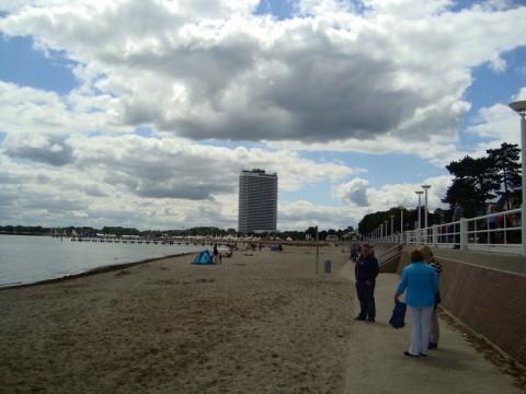 Подходим к пляжу на Балтийском море