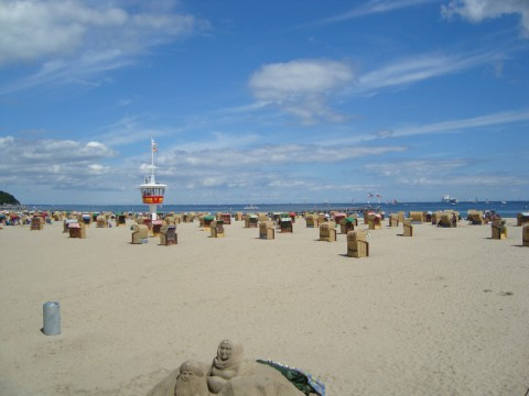 Пляж на Балтийском море (Германия)