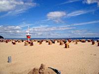 Пляж на Балтийском Море в Германии