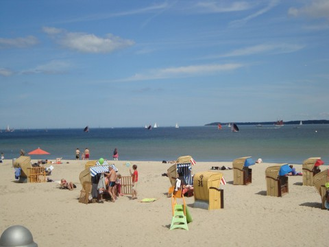 Пляж в Германии на Балтийском море