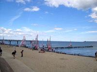 Германия. Пляж Балтийского моря.
