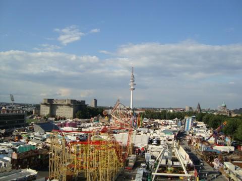 Вид сверху на парк DOM
