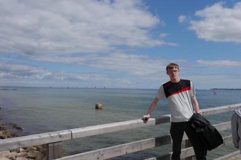 Я в Германии на фоне Балтийского Моря