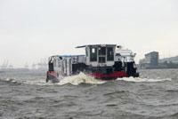 Ветер и дождь в порту Гамбурга