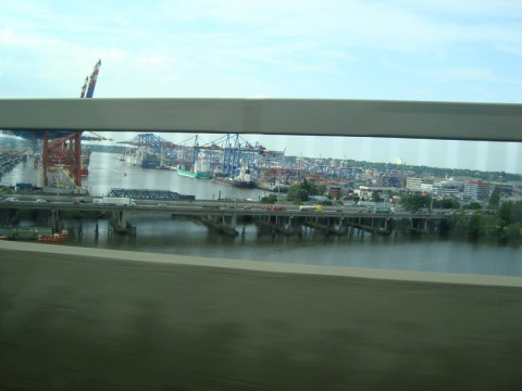 Порт Гамбурга. Вид с моста