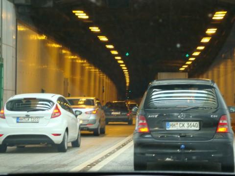 Въезжаем в подводный тоннель Гамбурга!!!