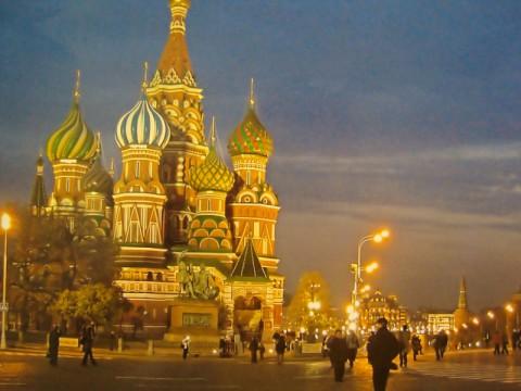 Фотка Москвы на стене в музее Колонны Победы в Берлине