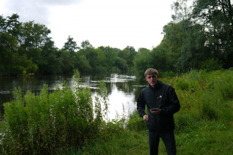 Я и река Траве в Любеке
