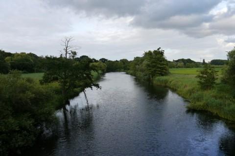 Вид с мостика на реку Траве в Любеке