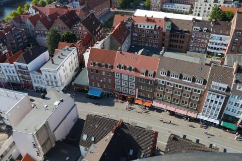 Чудесная панорама города Любек (Германия)