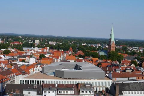Готические красоты Любека - вид с башни церкви св.Петри