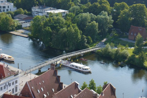 Мост через реку Траве (Любек, Германия)