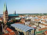 Вид с башни церкви Святого Петра в Любеке