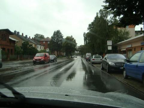 Едем по дождливому Любеку...