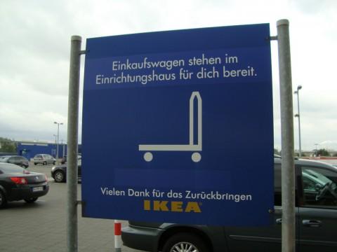 Можете воспользоваться тележкой в IKEA в Германии, но не крадите её!
