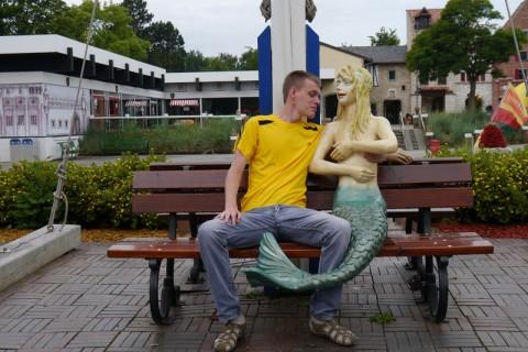 Голая русалка в Hansa Park'е