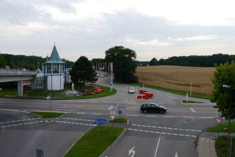 Вид на дороги с моста Hansa Park'а