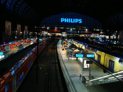 На главном вокзале в Гамбурге