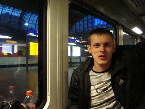 Я в поезде в Германии на главном вокзале Гамбурга