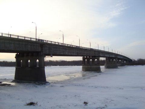Зимний Омск. Ленинградский мост
