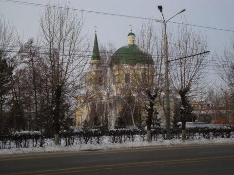 Омск зимой. Проспект Карла Маркса
