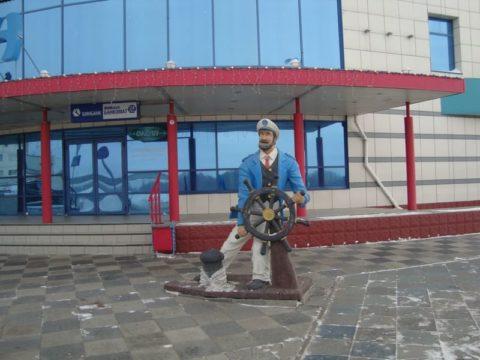 Омский «Океан» и иртышская набережная в зимнее время