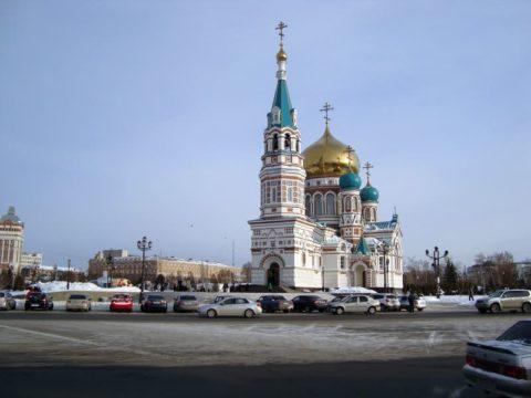 Зимний Омск. Успенский Собор